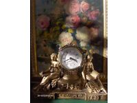 Beautiful French Style table clock , vintage 1990s clock