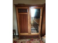Vintage retro antique Victorian furniture wardrobe £110
