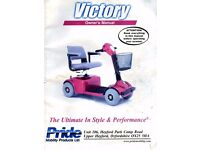 Mobility Scooter - Pride Victory. 4 wheel