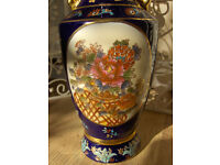 Beautiful Chinese vintage blue and gold Vase
