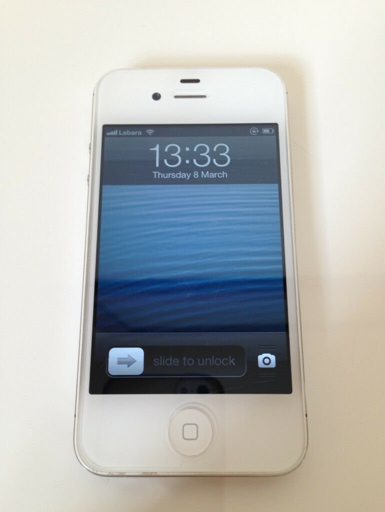 apple iphone 4s 64gb white vodafone ios 6 1 3 ready to use
