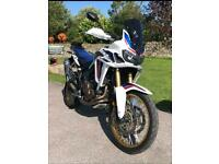Honda crf 1000 africa twin 2016 tri colour huge extras manual