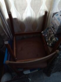 Two Vintage Dining Room Chairs