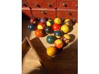 Vintage Balls , Pool Balls.Snooker table balls Set
