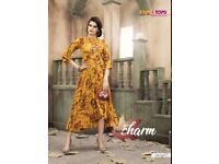Party Wear Heavy Rayon Printed Gowns kum Kurtis catalog - AMEYA