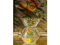 vintage french Glass bowl Ice Cream Cups Fruit Dessert dish bowl