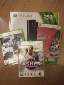 X box 360 with 3 games
