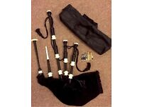 Highland Scottish bagpipe full black in Rosewood