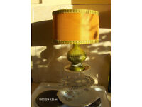 Vintage Table Lamp With Shade , crown Devon Made In England