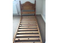 Single Bed, Solid Pine Wood