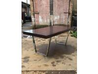 Designer Dining Table Chrome with Legs