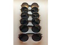Retro Steampunk Sunglasses Retro Round Sunglasses (Black) Bundle Sale x6 pairs