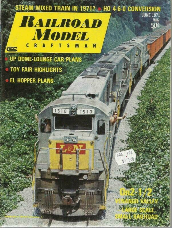 Railroad Model Craftsman June 1971 UP Dome Car Plans & Erie Twin Hopper Drawings