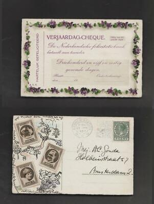 Netherlands cinderellas #74 - Royals on postcard 1937