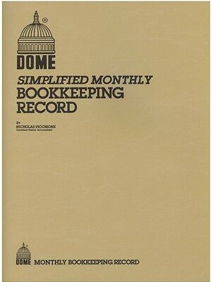 Dome Monthly Bookkeeping Record Book - 612 - 8-12 X 11 - Tan Cover