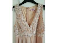 Pink boutique maxi dress