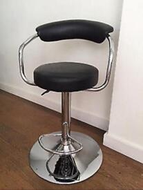 2 Gas Lift Bar Stools with Back Rest