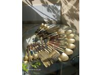 A beautiful Vintage Brass Spoon Set 22 pieces