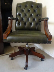 Leather Swivel Chesterfield Gainsborough Office Captains Chair