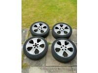 "4x Genuine 17"" Vauxhall Alloy Wheels and Good Tyres"