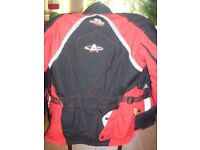 Motorcycle Scooter Bike Jacket Akito Cobra Maxx Red/Black - Size Medium
