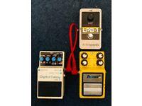 Guitar pedals- 3 pedals delay,flanger,boost