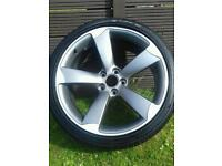 "AUDI TTRS ROTOR ALLOY WHEEL 19"" 9j RIM et33 with tyre rota rotar A3 A4 A5 A6 5x112"