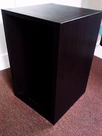THREE VERY VERSATILE STURDY DISPLAY BOXES, BOOK CASES, SIDE BOARDS FREESTANDING OR PUT ON THE WALL