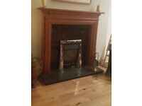 Fire Surround and marble hearth and insert