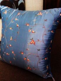 ONLY ONE TRULY LOVELY VERY GOOD QUALITY FIRM SUPPORT 100% SILK EMBROIDERED CUSHION