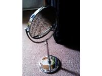 ORIGINAL 'HARRODS' HIGH QUALITY DRESSING TABLE / MAKE UP DOUBLE SIDED MIRROR ON EXTENDABLE STAND