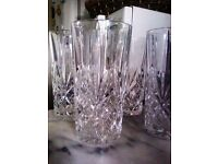ORIGINAL BRAND NEW VERY VERSATILE AND VERY GOOD QUALITY REAL CRYSTAL FOUR TALL GLASSES