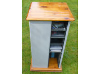 Upcycled Revolving CD Storage Tower Rack 4 Compartments Stores 160 CD's