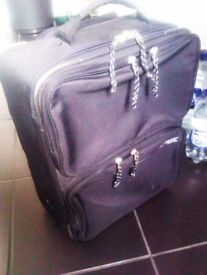 ALMOST BRAND NEW VERY VERSATILE AND LUXURIOUS QUALITY ORIGINAL ESPRIT BLACK LUGGAGE - TROLLEY CASE