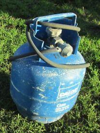 Empty 10lbs Dumpy Gas Bottle with regulator