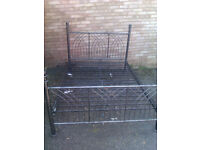 nice metal double bed