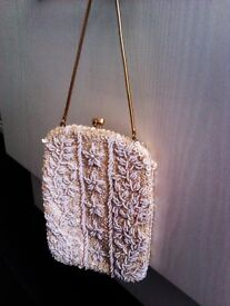 TRULY LOVELY VERSATILE ORIGINAL RETRO 60'S LADY'S PURSE, DAY OR EVENING HANDBAG