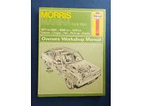 Morris Marina Manuals - Haynes & Intereurope - Workshop Manuals - good condition. £5 for the pair.