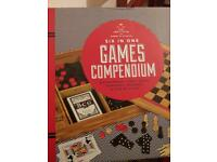 New/Games Compendium. Six in one games- Backgammon, cards, chess, dominoes, draught, pick-up sticks