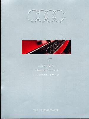 1993 Audi 20-page Original Car Comparison Guide Brochure - 100 90 S4 V8 quattro