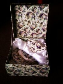 BRAND NEW BOXED ORIGINAL LEONARDO COLLECTION CHINA SET OF TEA COFFEE CUP WITH SAUCER AND CAKE PLATE