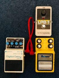 3 Guitar pedals - DELAY,FLANGER,BOOST