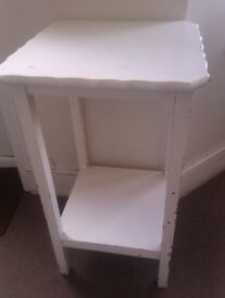 NICE STURDY HAND MADE REAL GOOD QUALITY WOOD HIGH TABLE, STAND, SIDE BOARD, SIDE UNIT