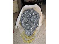 40 mm ALUMINUM ROUND HEAD NAILS approx 15 kilos