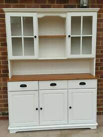 Large solid pine welsh dresser Painted Laura Ashley Ivory eggshell