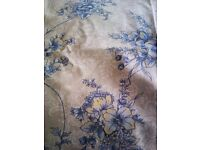 ORIGINAL LAURA ASHLEY MATCHING SET OF TWO LINED CURTAINS AND DOUBLE BED SPREAD PLUS..