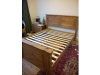 Solid Pine Corona Kingsize Double Bed Frame