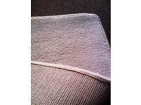 BRAND NEW VERY VERSATILE TRULY LOVELY SOFT VERY THICK WHITE-ISH RUG, CARPET, RUNNER, MAT