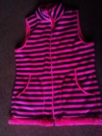 TRULY LOVELY CUDDLY WARM DOUBLE SIDES SHOCKING PINK GILET