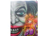 Graffiti artist for bespoke murals and workshops. Get in touch now!